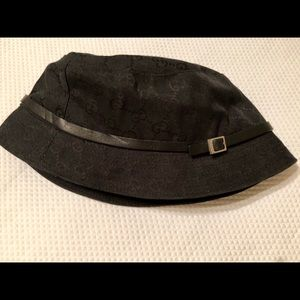 c856c65f2fd Gucci Accessories - Authentic Unisex Gucci Monogram Black Bucket Hat